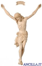 Cristo Siena legno naturale non dipinto