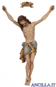 Cristo Siena finitura antica con oro zecchino
