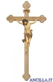 Crocifisso Leonardo anticato oro zecchino - croce brunita barocca