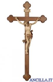 Crocifisso Leonardo brunito 3 colori - croce brunita barocca
