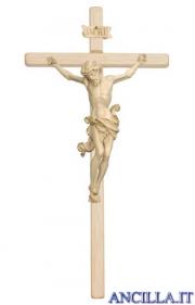 Crocifisso Leonardo cerato filo oro - croce diritta chiara