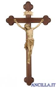 Crocifisso Siena brunito 3 colori - croce brunita barocca