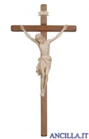 Crocifisso Siena cerato filo oro - croce diritta