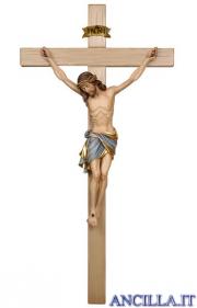 Crocifisso Siena dipinto a olio - croce diritta