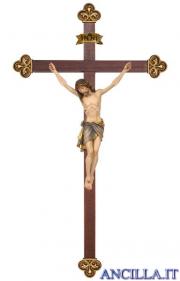 Crocifisso Siena dipinto a olio - croce barocca
