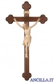 Crocifisso Siena naturale - croce brunita barocca