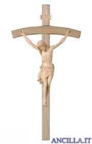 Crocifisso Siena naturale - croce curva