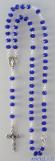 Collana Rosario 5 decine cristallo sfaccettato blu