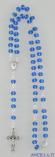 Collana Rosario 5 decine cristallo sfaccettato azzurro intenso