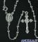 Collana Rosario argento 925°/°° 5 decine croce pendente