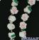 Corona del Rosario boccioli di rosa bianchi