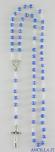Corona del Rosario grani sfaccettati blu