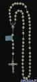 Corona del Rosario in argento con perla vetro cerato
