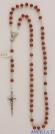 Corona del Rosario legno naturale grani tondi 4 mm