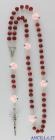 Corona del Rosario legno rosso profumato con pater rosellina rosa