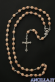 Corona del Rosario legno su catena grani ovali 5x7 grezzo