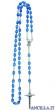 Corona del Rosario plastica incatenata trasparente