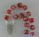 Corona del Rosario rossa in cristallo con rosellina e decorazioni oro