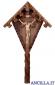 Croce da giardino in legno d'abete con Cristo brunito 3 colori