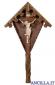 Croce da giardino in legno d'abete con Cristo naturale