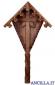 Croce da giardino in legno d'abete senza Cristo