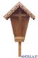 Croce da giardino in legno di larice laccato senza Cristo