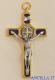 Croce-medaglia di San Benedetto ottone bagno oro