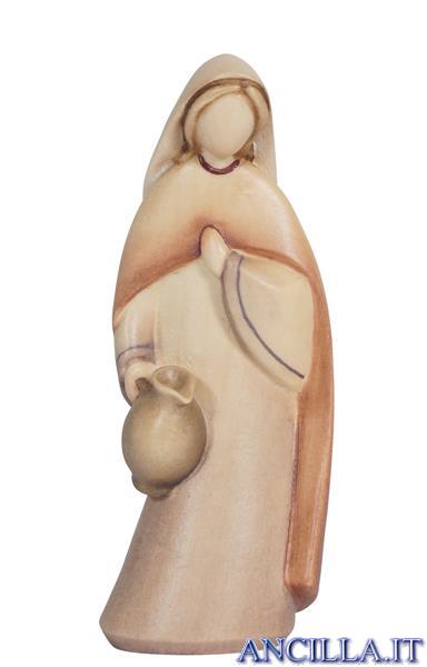 Donna con brocca Leonardo serie 10 cm Colorato