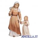Donna con bambina Avvento serie 16 cm