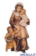 Donna con bambini Mahlknecht serie 12 cm