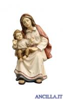 Donna seduta con bambino Kostner serie 9,5 cm