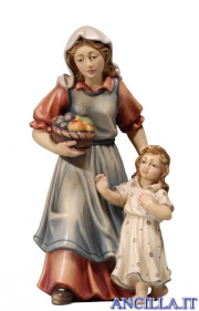 Donna con bambina Kostner serie 16 cm
