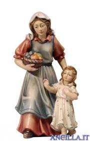 Donna con bambina Kostner serie 20 cm
