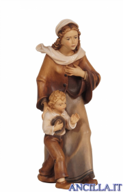 Donna con bambino Kostner serie 20 cm