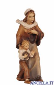 Donna con bambino Kostner serie 48 cm