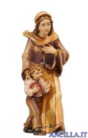 Donna con bambino Kostner serie 12 cm