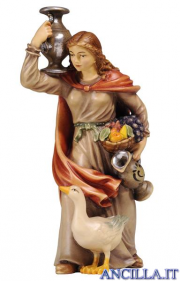 Donna con brocca Kostner serie 16 cm