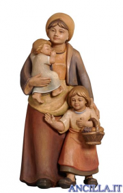 Donna con due bambini Pema serie 12 cm