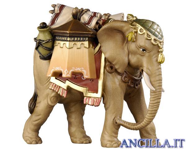 Elefante con bagagli Kostner serie 12 cm