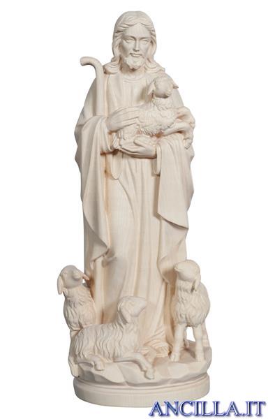 Gesù buon Pastore modello 1 legno naturale non dipinto