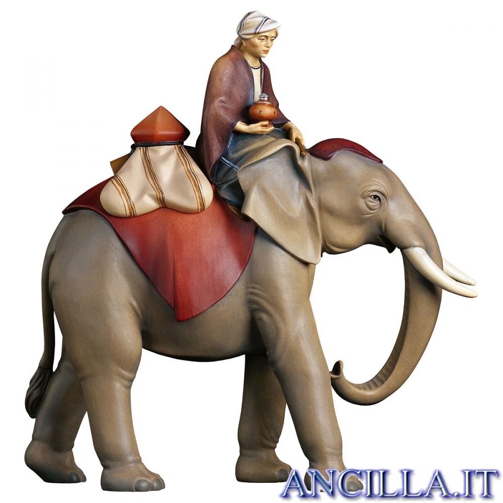 Gruppo dell'elefante con sella e gioielli Redentore serie 12 cm