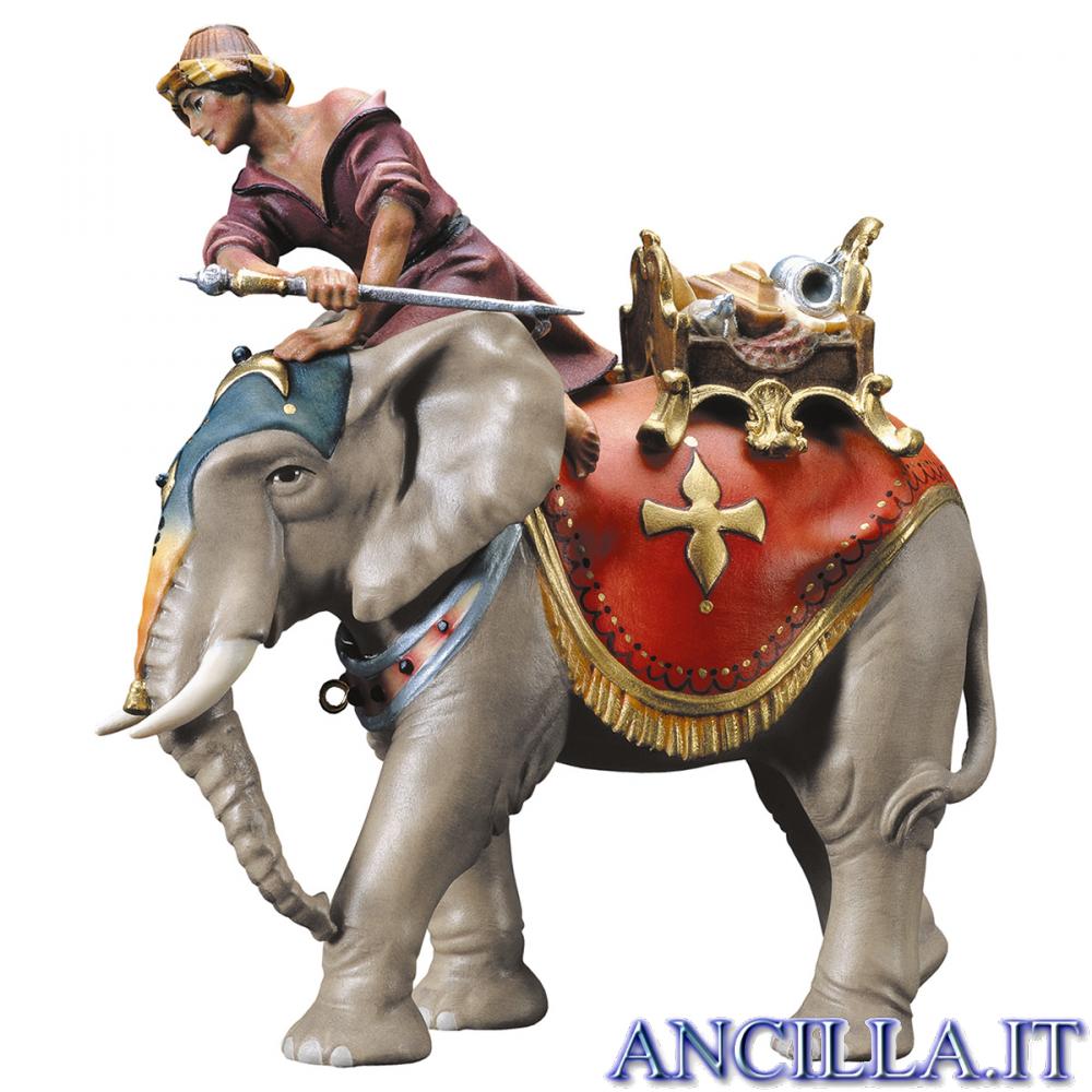 Gruppo dell'elefante con sella e gioielli Ulrich serie 12 cm