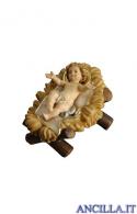 Gesù Bambino con culla Mahlknecht serie 12 cm