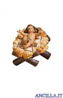 Gesù Bambino Kostner con culla serie 16 cm