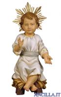 Gesù Bambino seduto su culla con raggiera Ulrich