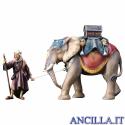 Gruppo dell'elefante con sella e bagagli Ulrich serie 10 cm