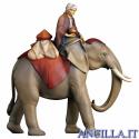 Gruppo dell'elefante con sella e gioielli Redentore serie 16 cm