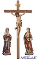 Gruppo di crocifissione Leonardo dipinto a olio