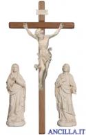 Gruppo di crocifissione Leonardo legno naturale