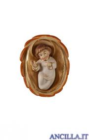 Gesù Bambino Pema con culla serie 23 cm